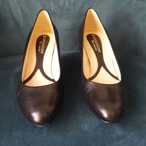 Marianne Black Leather Heel